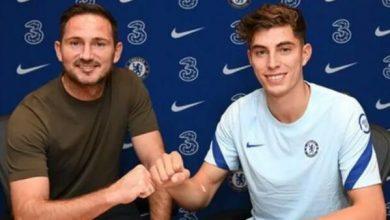 Photo of Chelsea sign Kai Havertz.