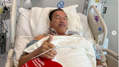 Photo of Arnold Schwarzenegger reveals he had second heart surgery to replace his aortic valve