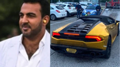 Photo of British multi-millionaire arrested after 'driving his Lamborghini Huracan from London to Italy to threaten his ex-girlfriend'
